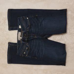 BKE ADDISON Bootcut Dark Blue Jeans sz 27